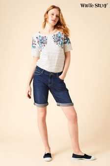 White Stuff Blue Isla Denim Short
