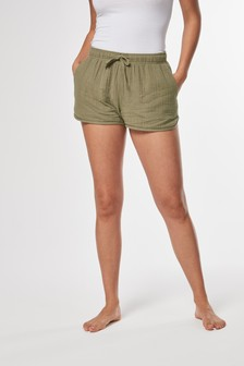 Textured Cotton Short