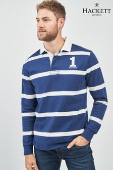 Hackett Blue Striped Rugby Shirt