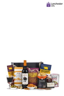 Men's Wine And Snacks Gift Hamper by Lanchester Gifts