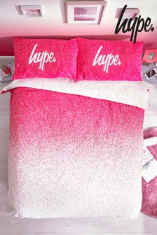 Hype. Pink Ombre Print Duvet Cover And Pillowcase Set