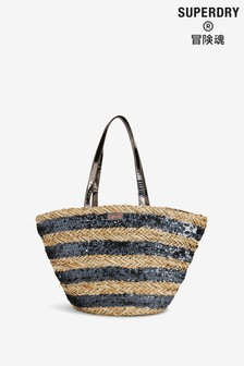 Superdry Natural Sequin Tote