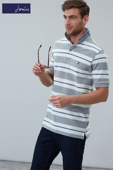 Joules Grey Filbert Striped Classic Fit Polo