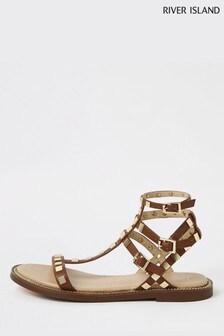1cedc62f647 Buy Women s footwear Footwear Flat Flat Sandals Sandals Riverisland ...