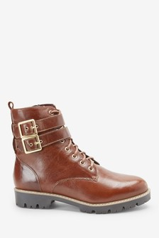 Signature Comfort Double Buckle Lace-Ups