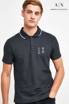 Armani Exchange Navy/Green Polo Shirt
