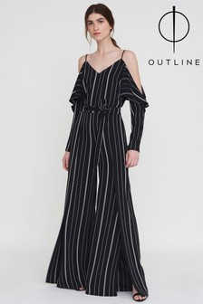 Outline Black Fairdale Stripe Trouser