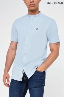River Island Grandad Collar Oxford Shirt