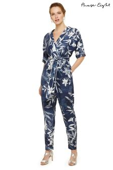 Phase Eight Blue/Ivory Hana Jumpsuit
