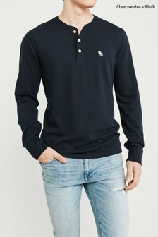 Abercrombie & Fitch Navy Long Sleeve Top