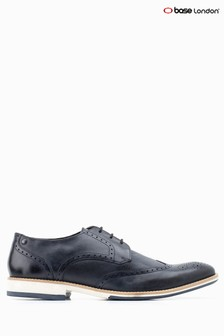 Base London® Navy Hewitt Lace-Up Shoe