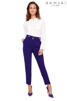 Damsel In A Dress Purple Eryn Capri Trousers