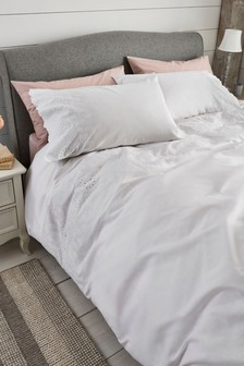 Broderie Duvet Cover And Pillowcase Set
