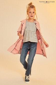 Tommy Hilfiger Girl Pink Hooded Parka