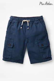 Boden Blue Pull-On Cargo Shorts
