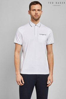 Ted Baker White Short Sleeve Poloshirt