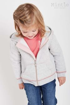 Mintie by Mint Velvet Grey Zip Through Hoody