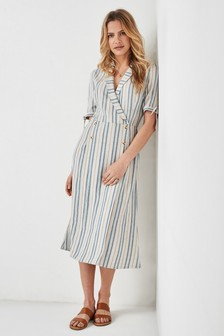 Stripe Collar Dress