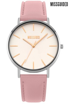 Missguided Pink Strap Watch