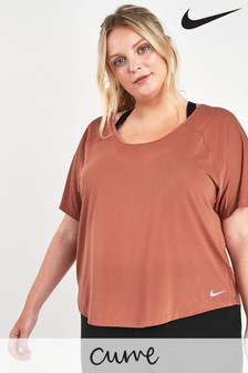 Nike Curve Dusty Peach Miler Top