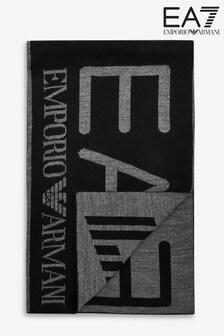 Emporio Armani EA7 Black Logo Scarf