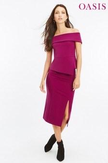 Oasis Pink Got High Waist Panel Skirt