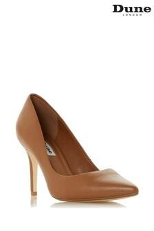 Dune London Tan Almond Leather Shoe