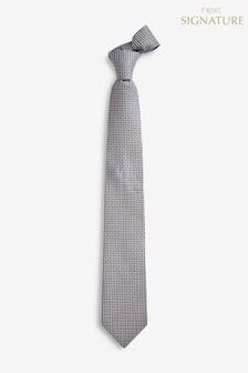 Signature Silk Geo Floral Tie