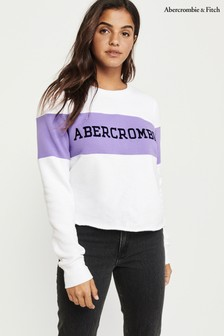 Abercrombie & Fitch White Sweatshirt