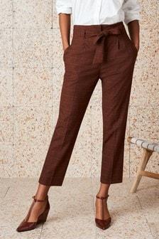 Pantalón con cintura anudada