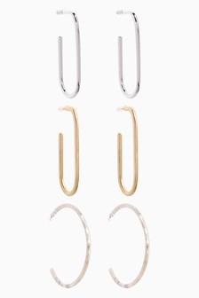Resin And Metal Hoops Three Pack