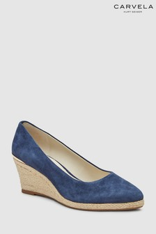 Carvela Comfort Suede Sonal Navy Wedge