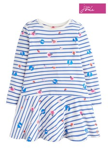 Joules Blue Josie Jersey Printed Dress
