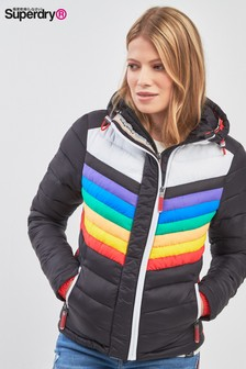 Superdry Black Rainbow Fuji Jacket