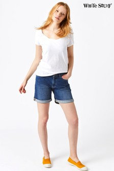 White Stuff Blue Eva Boyfriend Denim Short