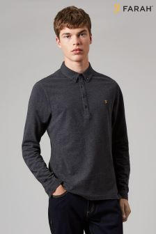 Farah Merriweather Long Sleeve Polo