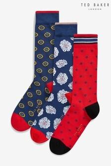 Ted Baker Multi Socks 3 Pack