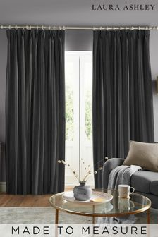 Laura Ashley Swanson Charcoal Made to Measure Curtains