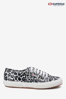Кроссовки с леопардовым принтом Superga 2750
