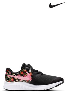 Nike Run Black/Floral Star Runner Junior Trainers