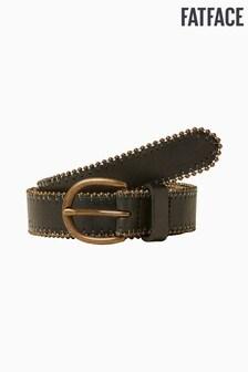 Черный кожаный ремень с отделкой заклепками FatFace
