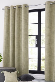 Tweedy Twist Eyelet Curtains