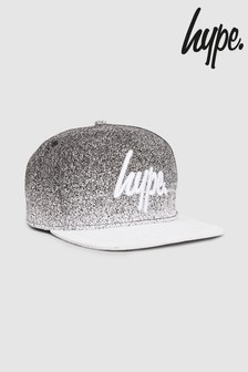 Hype. White/Black Speckle Fade Snap Back