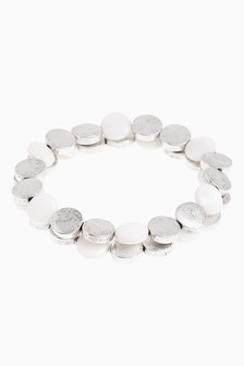 And White Stretch Bracelet Two Pack
