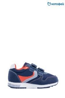 Темно-синие кроссовки на двух липучках Kotofey