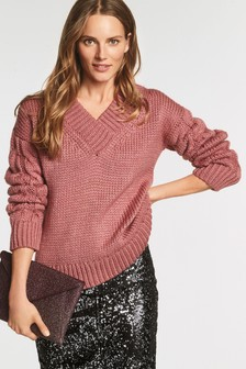 Cable V-Neck Sweater