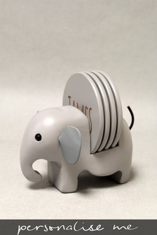 Personalised Elephant Coaster Holder