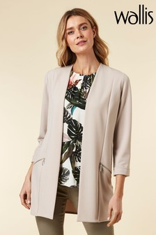 Wallis Natural Stone Longline Jacket