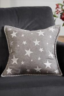 Embroidered Felt Star Cushion