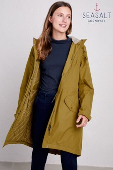 Seasalt Brown Oak Plant Hunter 2 Coat